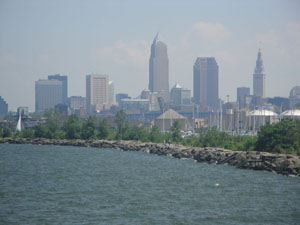 Downtown Cleveland from Edgewater Park