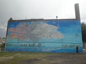 The Water Cycle mural - Detroit