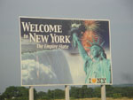 New York Welcome to Sign - I-90 North