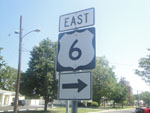 HW-6 east sign in Sandusky, Ohio