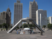 Hart Plaza, Riverfront Detroit