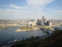 Pittsburgh area from Duquesne Incline
