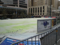 Cincinnati ice rink at Fountain Square