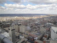 View atop Carew Tower in Cincinnati
