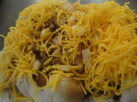 Skyline Chili cheese coneys in Cincinnati