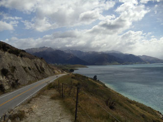 On the open road. South Island in New Zealand