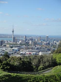 Auckland, New Zealand skyline - from Mt. Eden