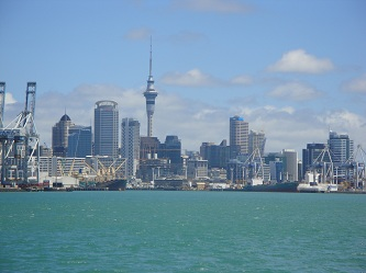 Auckland, New Zealand skyline - from Devonport, North Shore