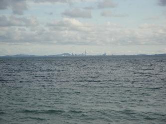 Auckland, New Zealand skyline - from Whangaparaoa Peninsula