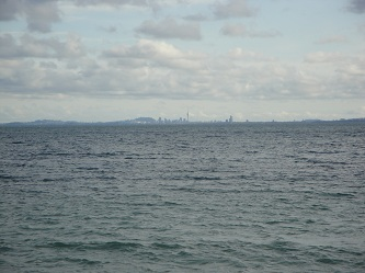 Auckland, New Zealand skyline - from Whangaparaoa Peninsula
