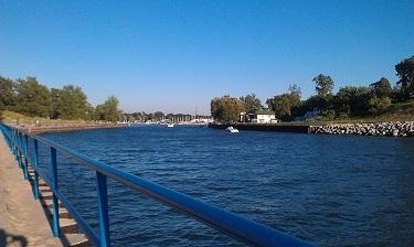 Channel going between Lake Michigan and Lake Macatawa