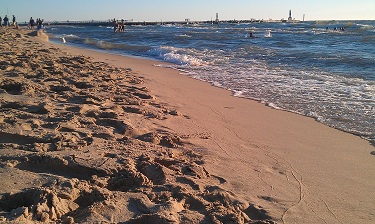 Holland State Park Beach. Plenty of sand and beautiful shoreline.