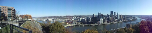 Pittsburgh - panoramic shot from Mt. Washington