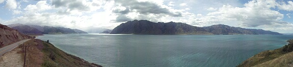 Lake Hawea panoramic - New Zealand