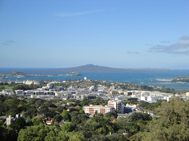 View of ... from Mt. Eden in Auckland, New Zealand