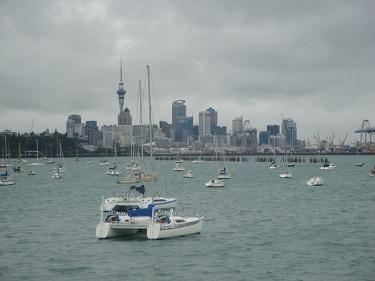 Auckland, New Zealand skyline, harbour