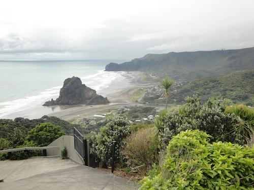 Piha, Piha Beach, Lion Rock - North Island, New Zealand