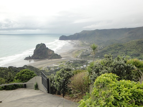 Piha, Piha Beach, Lion Rock - North Island, New Zealand