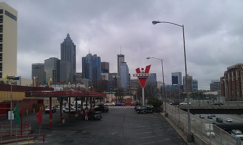 The Varisty - Atlanta - world's largest drive-in - Downtown skyline