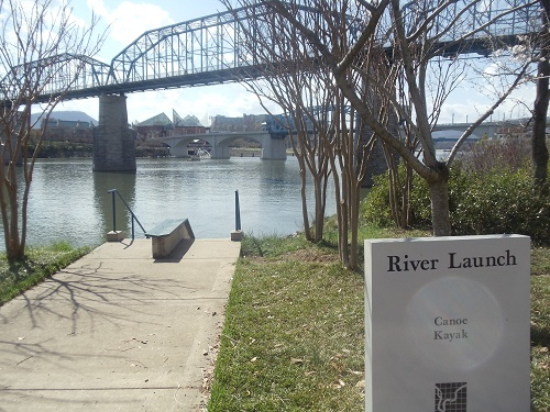Coolidge Park, Chattanooga, Tennessee, river launch, Walnut Street Bridge