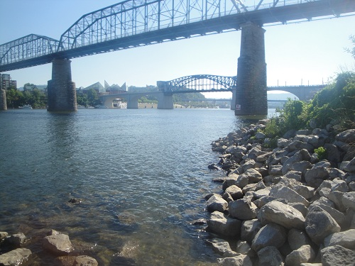 Coolidge Park, Chattanooga, Tennessee - Tennessee River, kayak/canoe launch