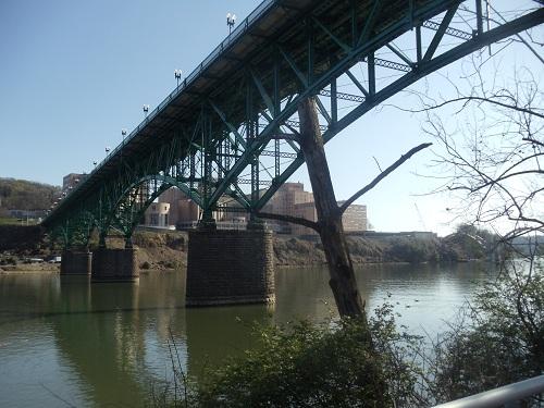 Volunteer Landing - Knoxville, Tennessee - Gay Street Bridge, Tennessee River