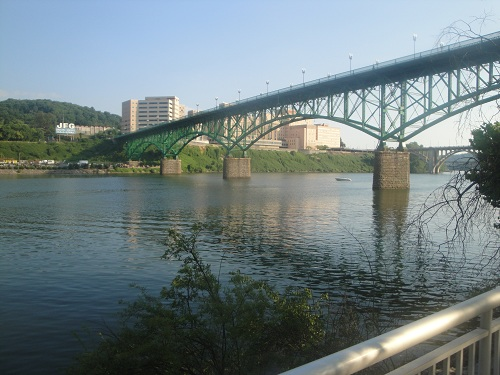 Volunteer Landing - Knoxville, Tennessee - Gay Street Bridge, Tennessee River