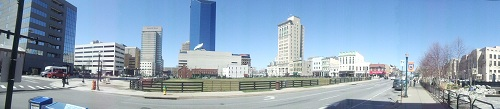 Panoramic shot - Downtown Lexington, Kentucky