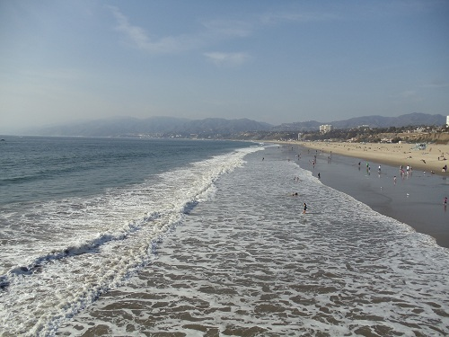 Santa Monica Beach in Southern California