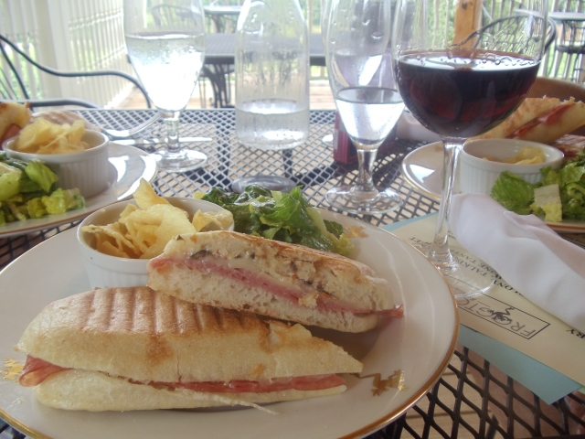 North Georgia wine country, Frogtown Cellars - paninis
