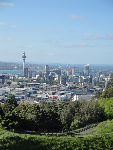 Auckland, New Zealand skyline from Mount Eden