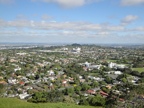 Auckland, New Zealand suburbia from Mount Eden