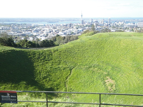 Auckland, New Zealand skyline from Mount Eden