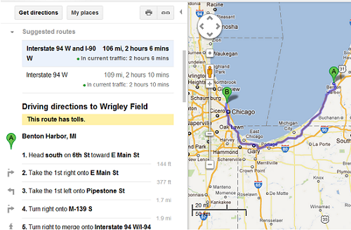 Road Trip - Directions - Google Maps