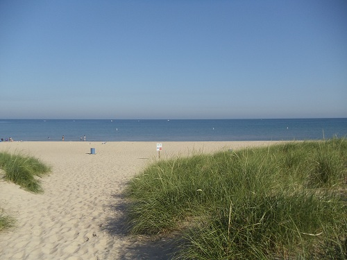 St. Joseph, Michigan - Tisconia Park - Beach and Lake Michigan