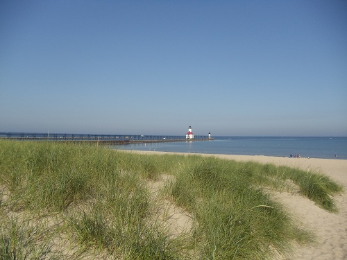 St. Joseph, Michigan - Tisconia Park - beach, Lake Michigan, North Pier, lighthouses