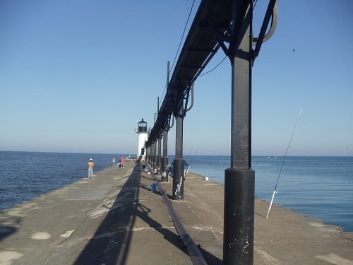 St. Joseph, Michigan, North Pier and catwalk