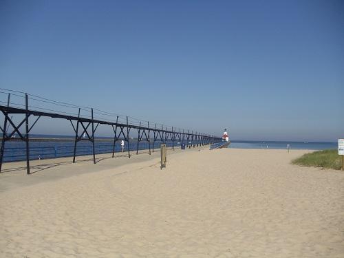 St. Joseph, Michigan North Pier, lighthouses, Tisconia Beach Park