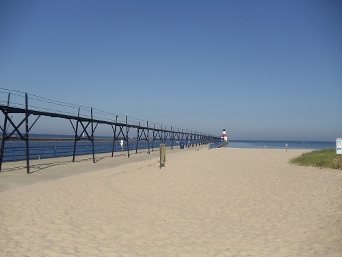 St. Joseph, Michigan North Pier, lighthouses, Tisconia Beach Park