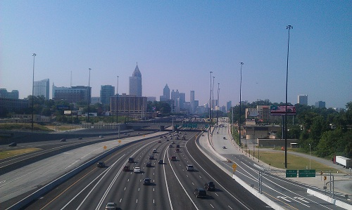 Atlanta, downtown skyline, Downtown Connector