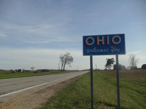 Michigan, Ohio state line