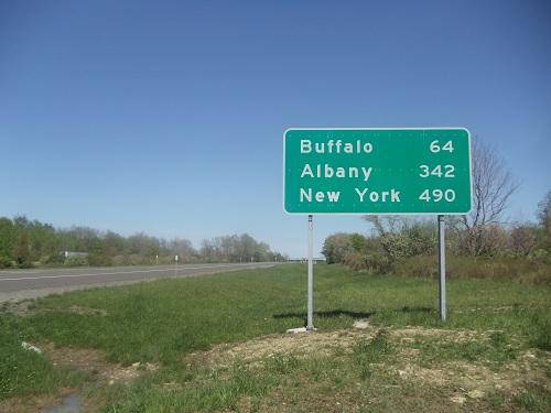 New York interstate sign