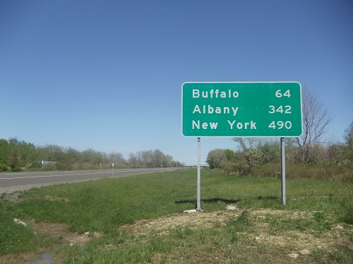 New York interstate sign