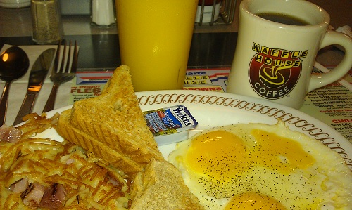 Waffle House - breakfast before road trip