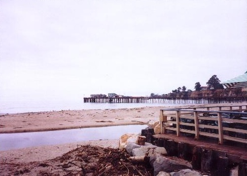 Pacific Ocean from Capitola Beach in California
