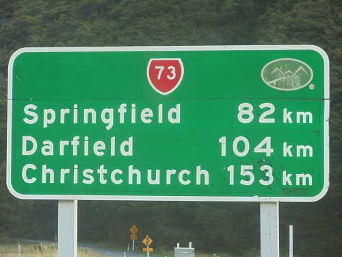 Out on the open road. Heading east on South Island of New Zealand