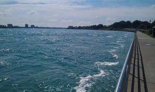 Port Huron, Michigan walkway along St. Clair River.