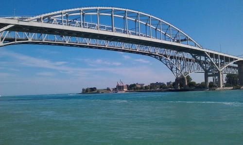 Blue Water Bridge, USA and Canada International crossing.
