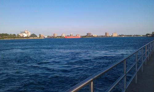 Sarnia, Ontario, Canada skyline along St. Clair River.