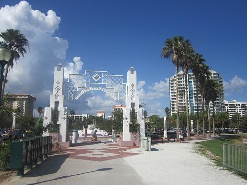 Sarasota, Florida - Island/Bayfront Park - entrance